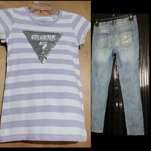 Girls GUESS bling outfit
